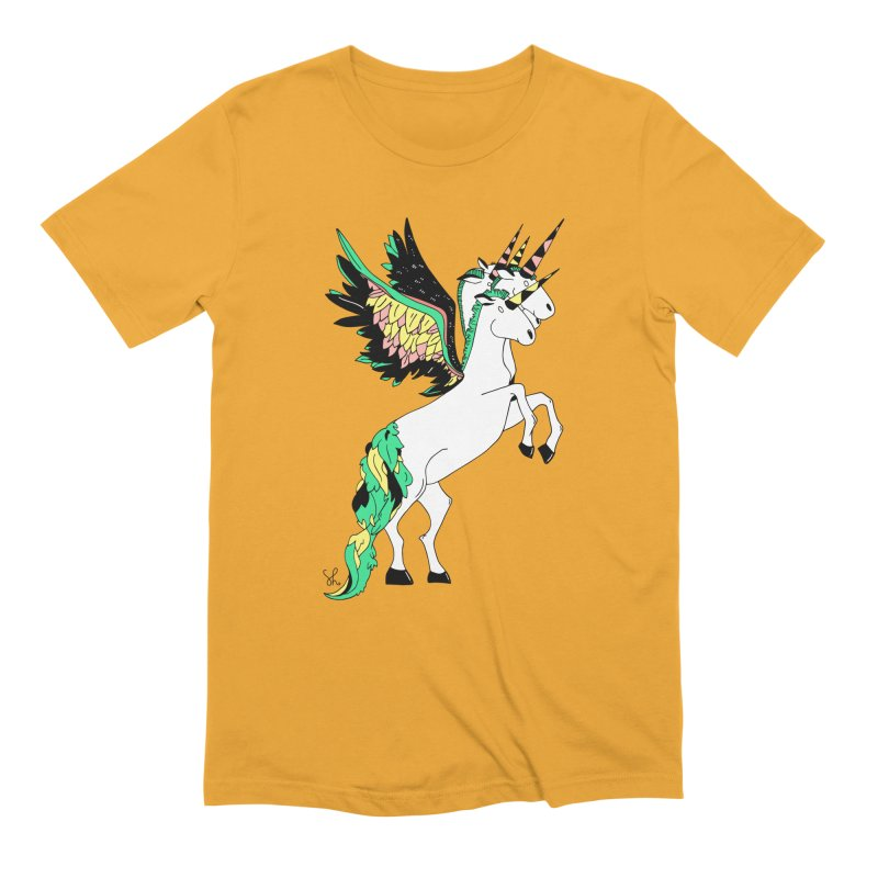 The Four Headed Unicorn Men's Extra Soft T-Shirt by Shelby Works