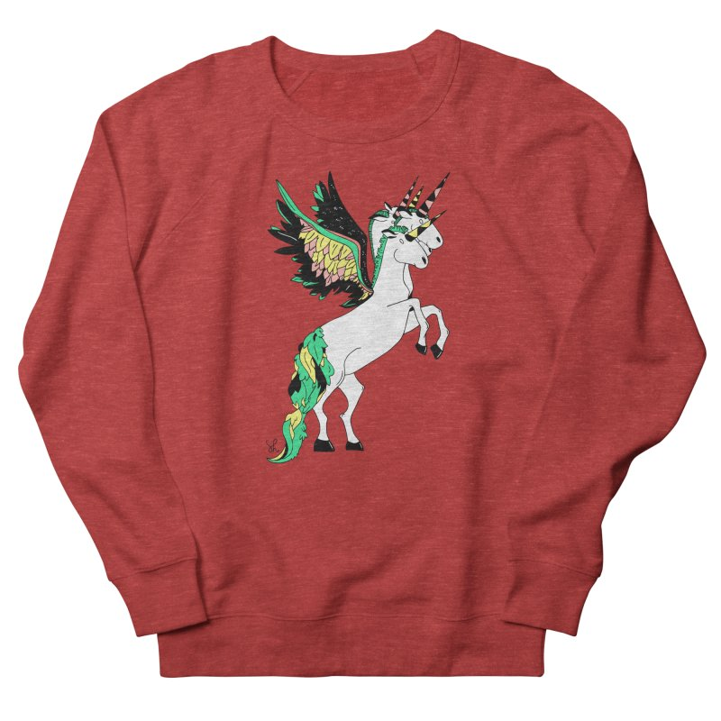 The Four Headed Unicorn Women's French Terry Sweatshirt by Shelby Works