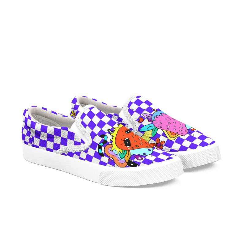 Strawberry Nonsense Men's Slip-On Shoes by Shelby Works
