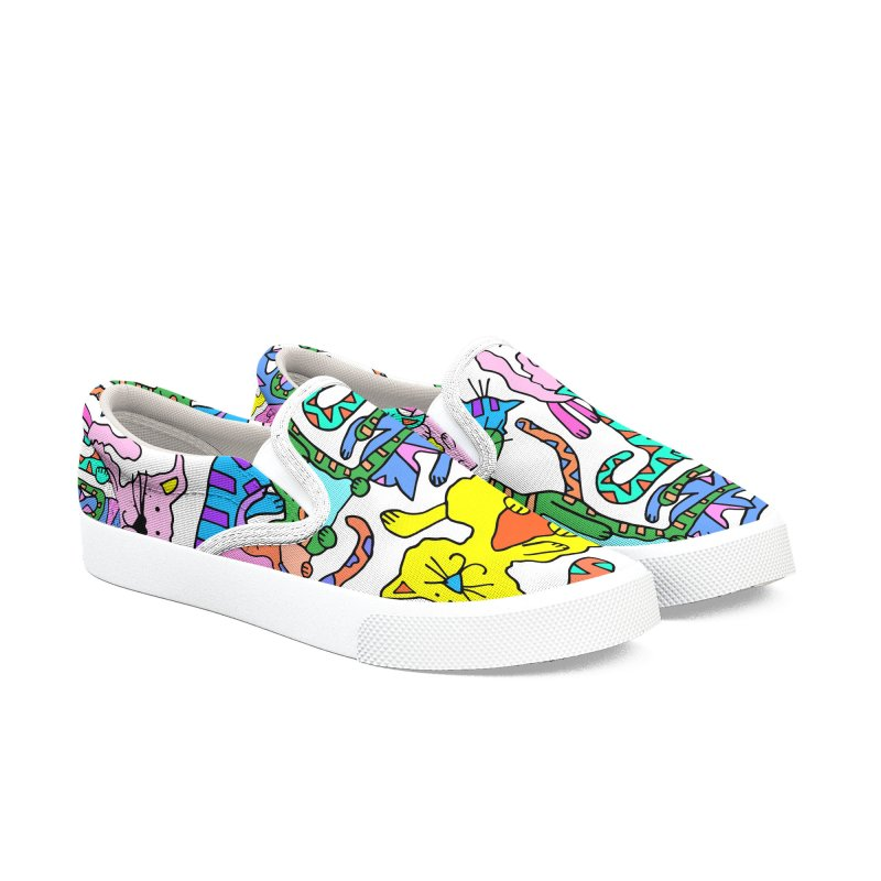 Purrty Cats Men's Slip-On Shoes by Shelby Works