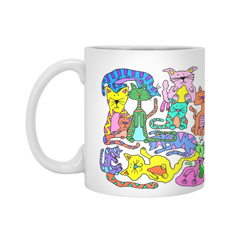Purrty Cats Accessories Mug by Shelby Works