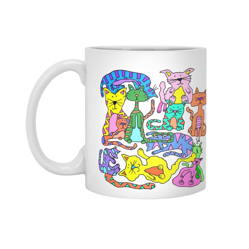 Purrty Cats Accessories Standard Mug by Shelby Works