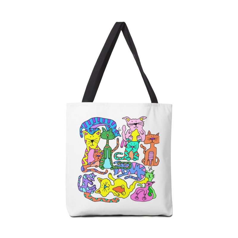 Purrty Cats Accessories Tote Bag Bag by Shelby Works