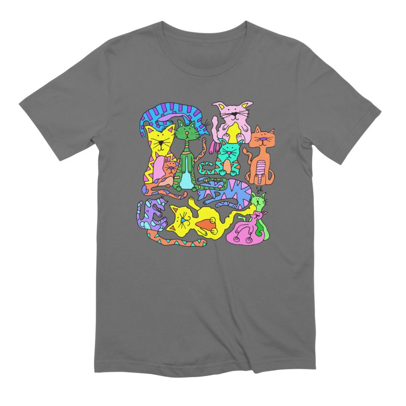 Purrty Cats Men's T-Shirt by Shelby Works