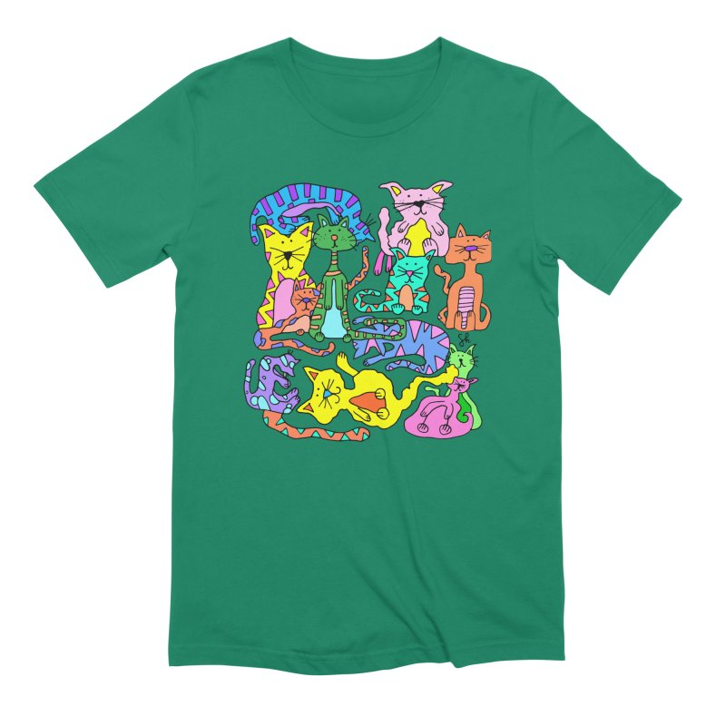Purrty Cats Men's Extra Soft T-Shirt by Shelby Works