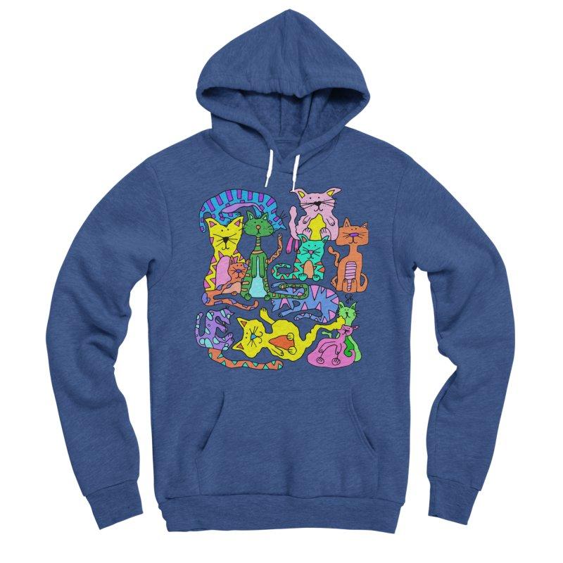 Purrty Cats Women's Sponge Fleece Pullover Hoody by Shelby Works