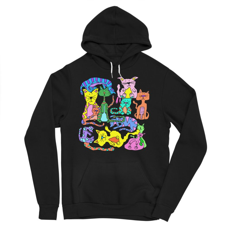 Purrty Cats Women's Sponge Fleece Pullover Hoody by Shelby Works