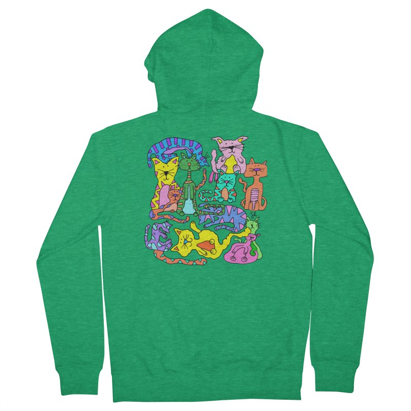 Purrty Cats Men's Zip-Up Hoody by Shelby Works