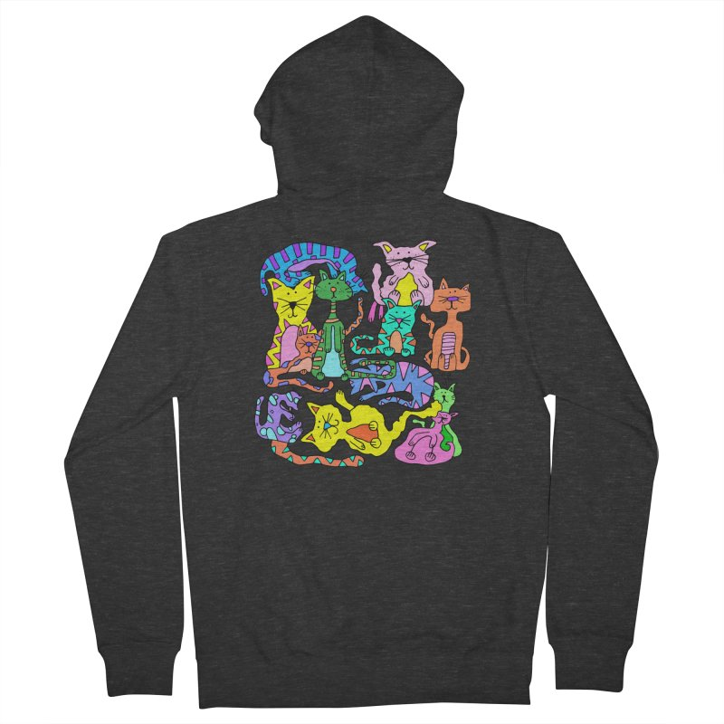 Purrty Cats Men's French Terry Zip-Up Hoody by Shelby Works