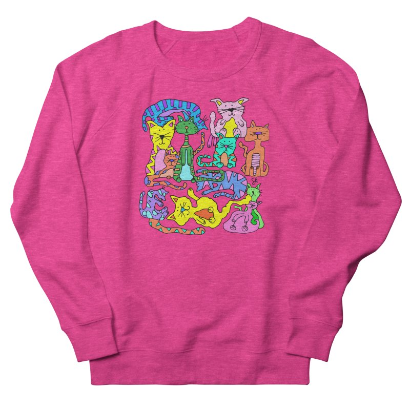 Purrty Cats Women's French Terry Sweatshirt by Shelby Works