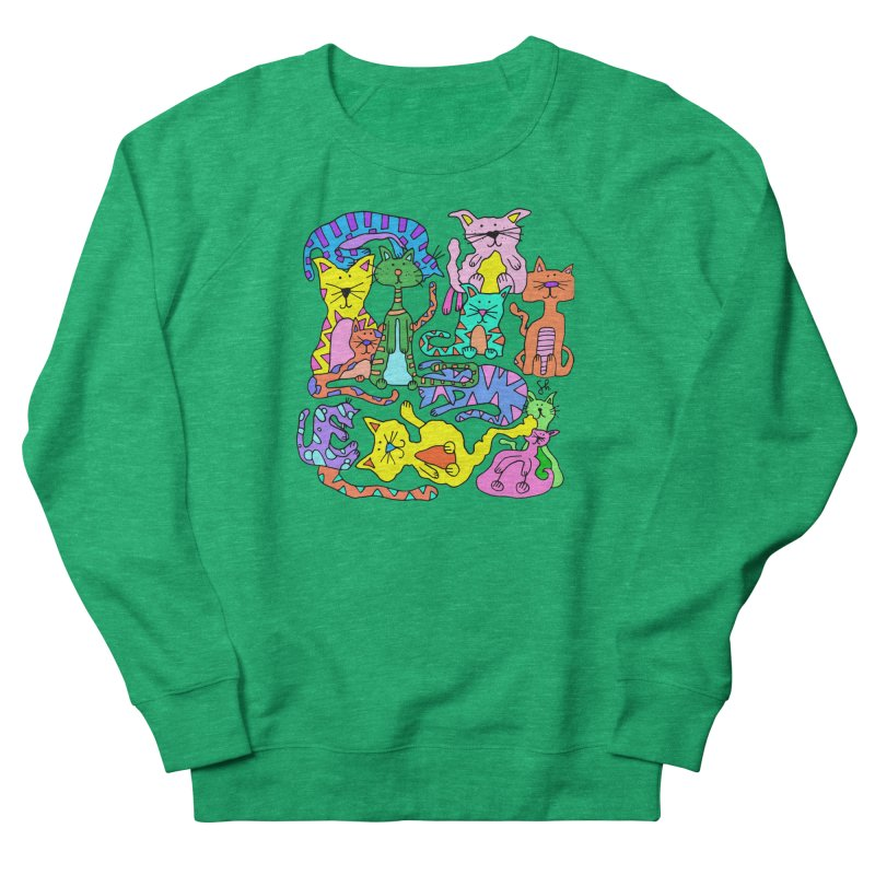 Purrty Cats Men's French Terry Sweatshirt by Shelby Works
