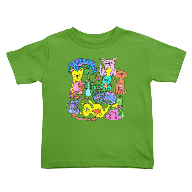 Purrty Cats Kids Toddler T-Shirt by Shelby Works