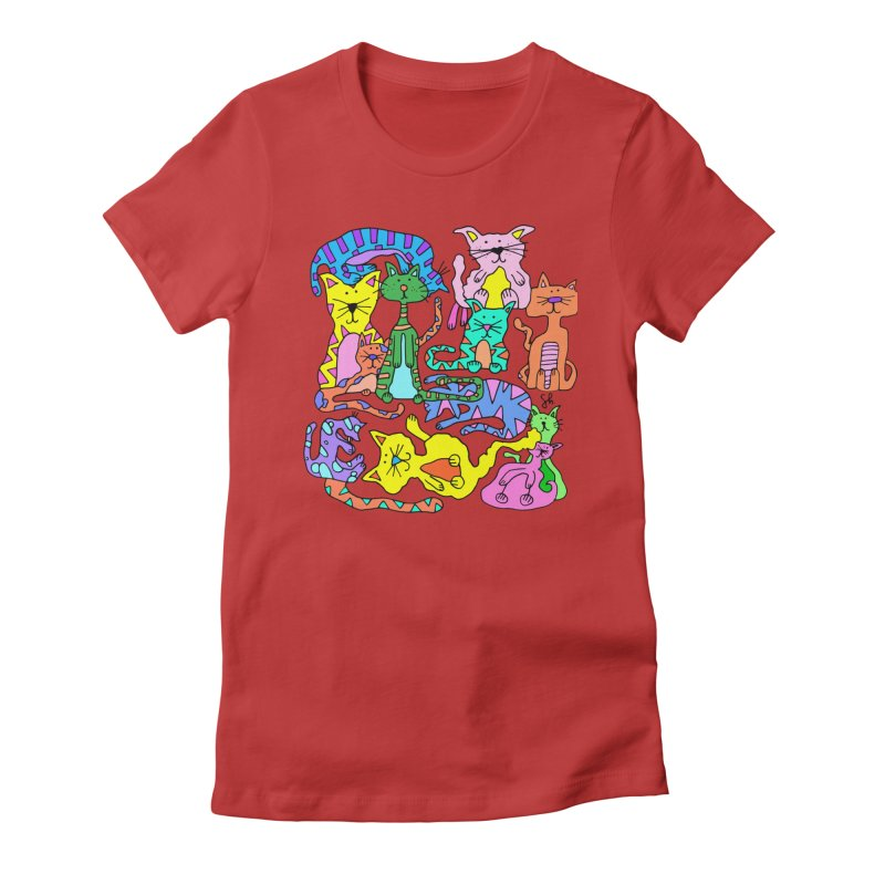 Purrty Cats Women's T-Shirt by Shelby Works