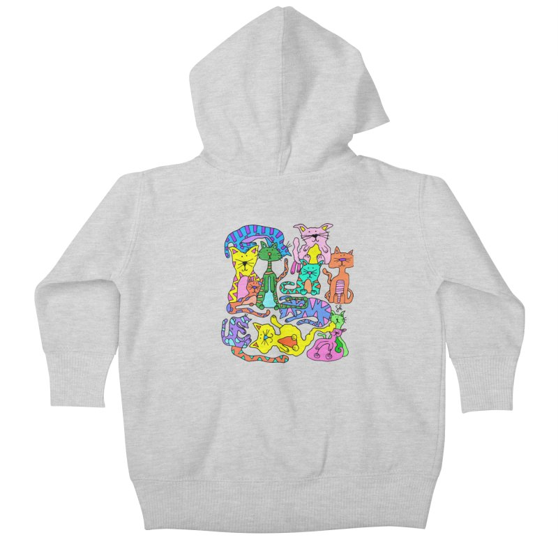 Purrty Cats Kids Baby Zip-Up Hoody by Shelby Works