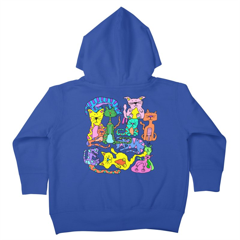 Purrty Cats Kids Toddler Zip-Up Hoody by Shelby Works