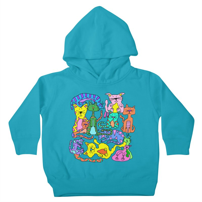 Purrty Cats Kids Toddler Pullover Hoody by Shelby Works