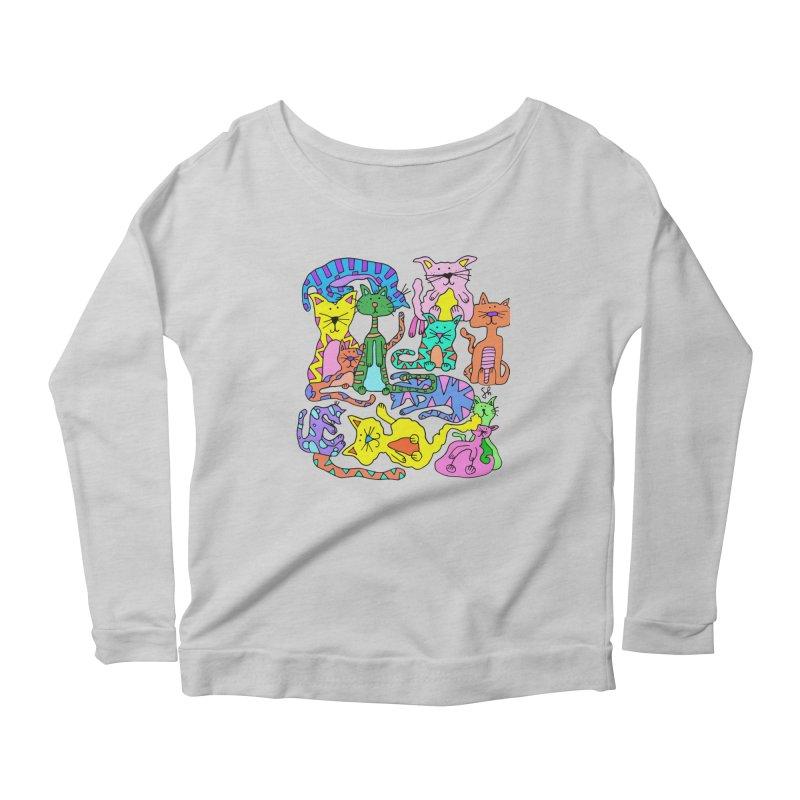 Purrty Cats Women's Longsleeve T-Shirt by Shelby Works