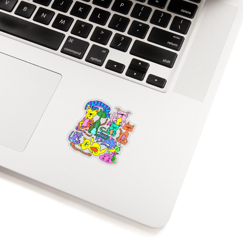 Purrty Cats Accessories Sticker by Shelby Works