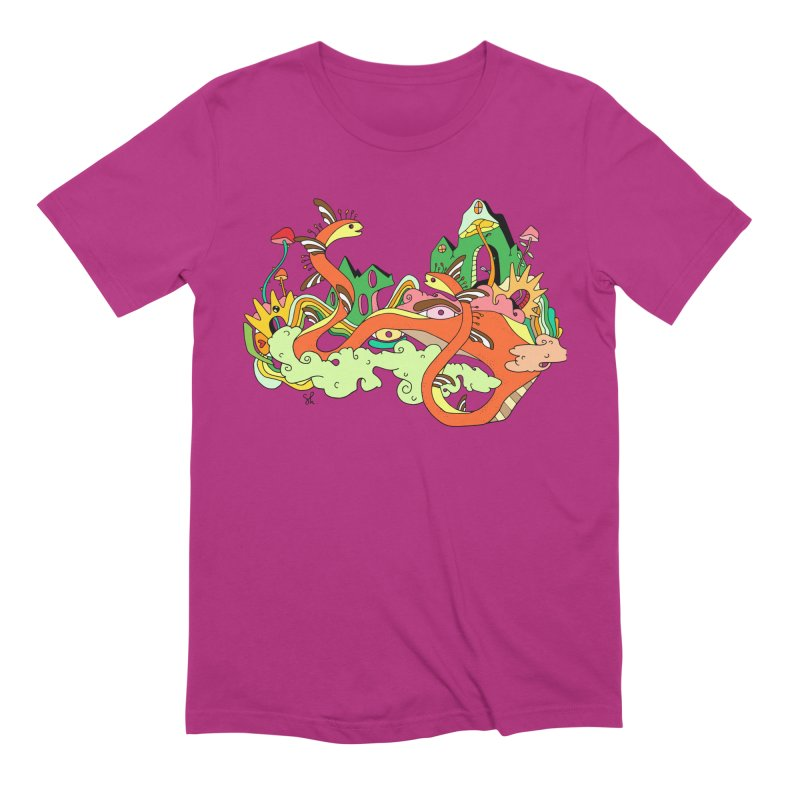 Garden Snakes Men's Extra Soft T-Shirt by Shelby Works
