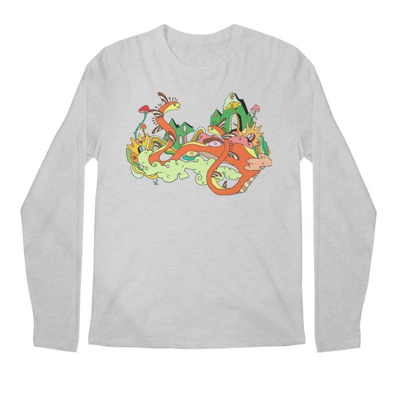 Garden Snakes Men's Regular Longsleeve T-Shirt by Shelby Works