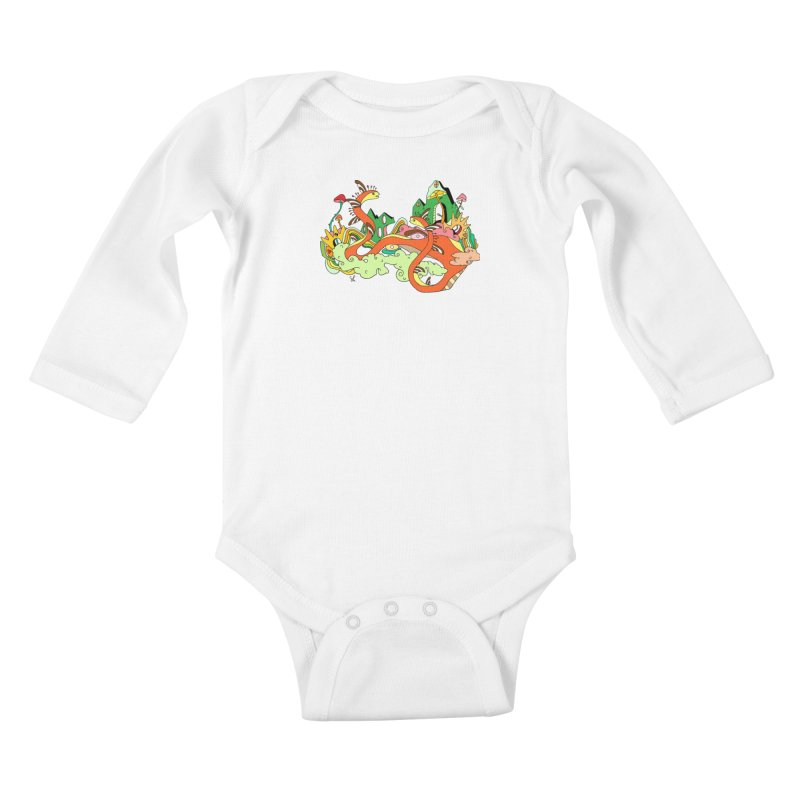 Garden Snakes Kids Baby Longsleeve Bodysuit by Shelby Works