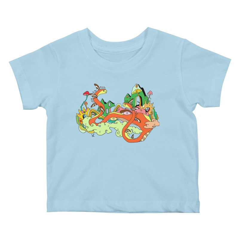 Garden Snakes Kids Baby T-Shirt by Shelby Works