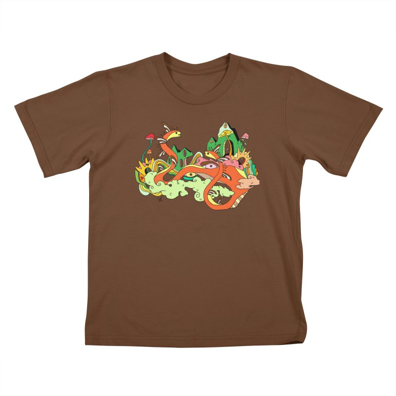 Garden Snakes Kids T-Shirt by Shelby Works