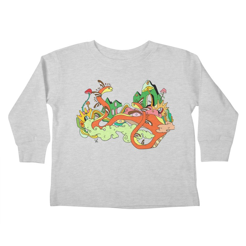 Garden Snakes Kids Toddler Longsleeve T-Shirt by Shelby Works