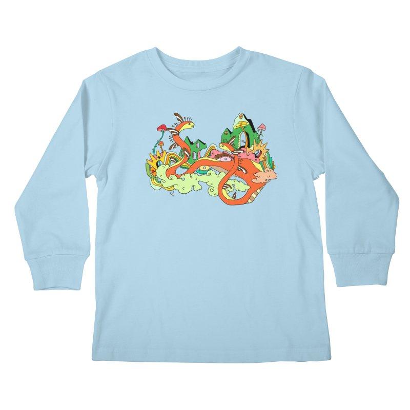 Garden Snakes Kids Longsleeve T-Shirt by Shelby Works