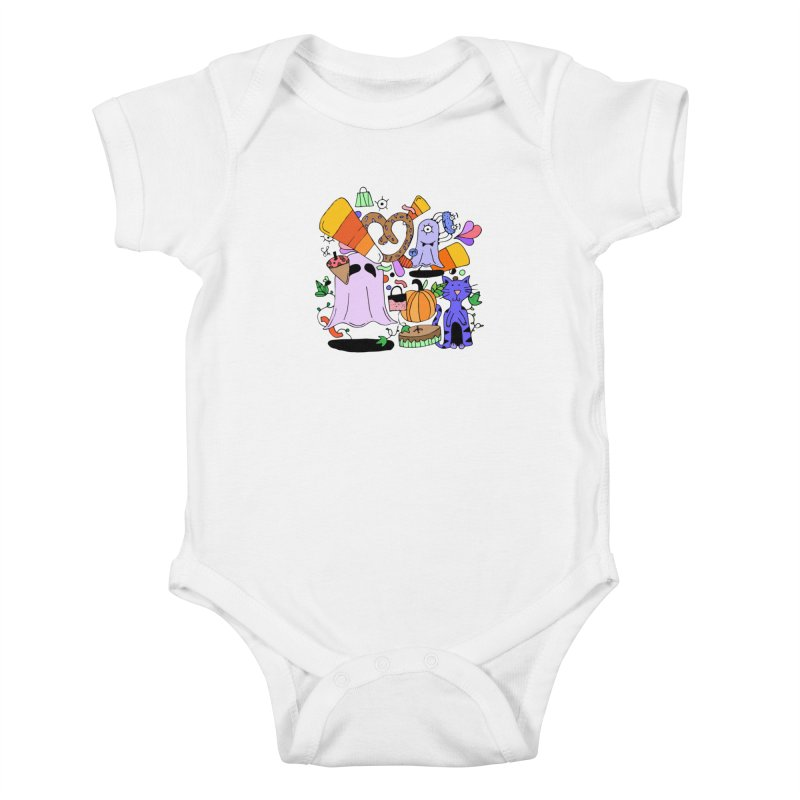Candy Collection Bag Kids Baby Bodysuit by Shelby Works