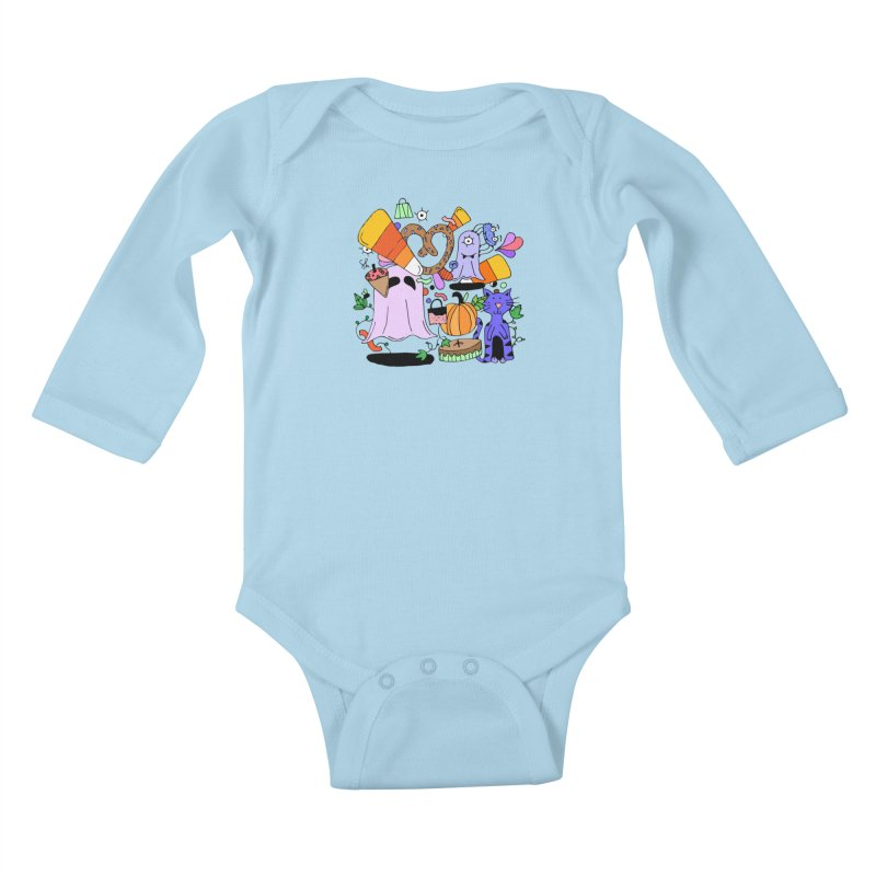 Candy Collection Bag Kids Baby Longsleeve Bodysuit by Shelby Works