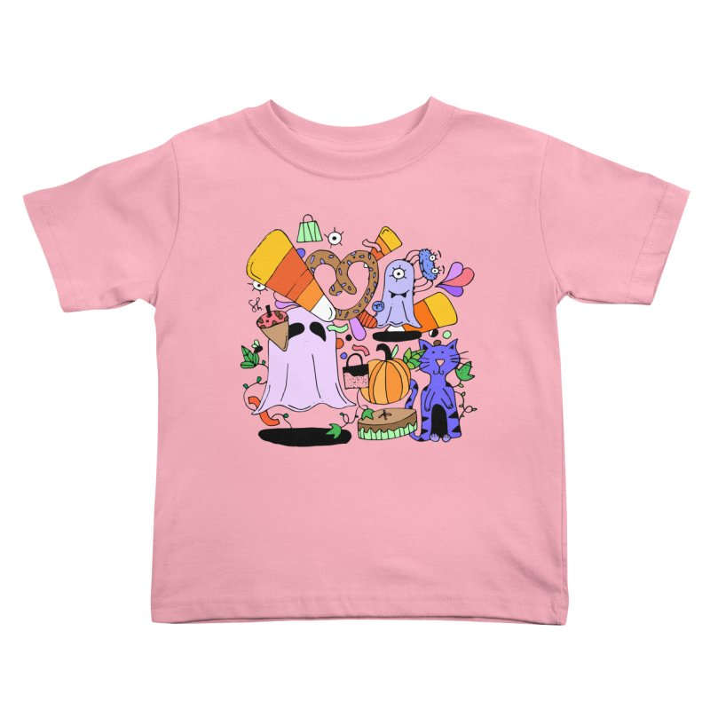 Candy Collection Bag Kids Toddler T-Shirt by Shelby Works