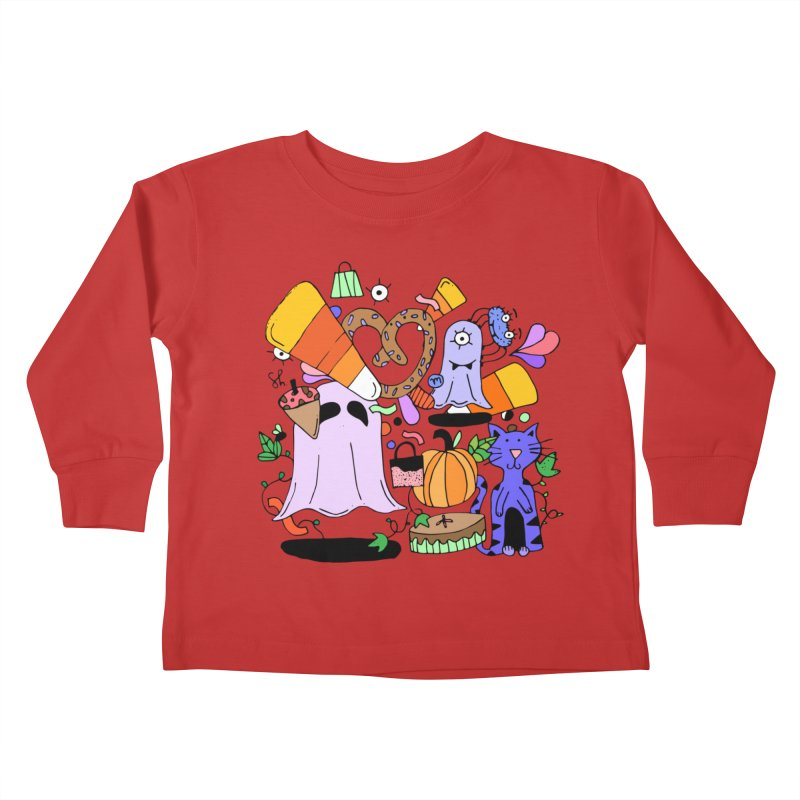Candy Collection Bag Kids Toddler Longsleeve T-Shirt by Shelby Works