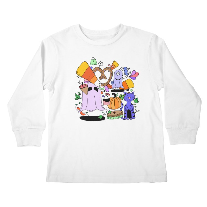 Candy Collection Bag Kids Longsleeve T-Shirt by Shelby Works