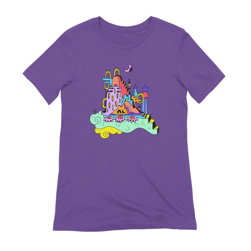 Village in the Sky Women's Extra Soft T-Shirt by Shelby Works