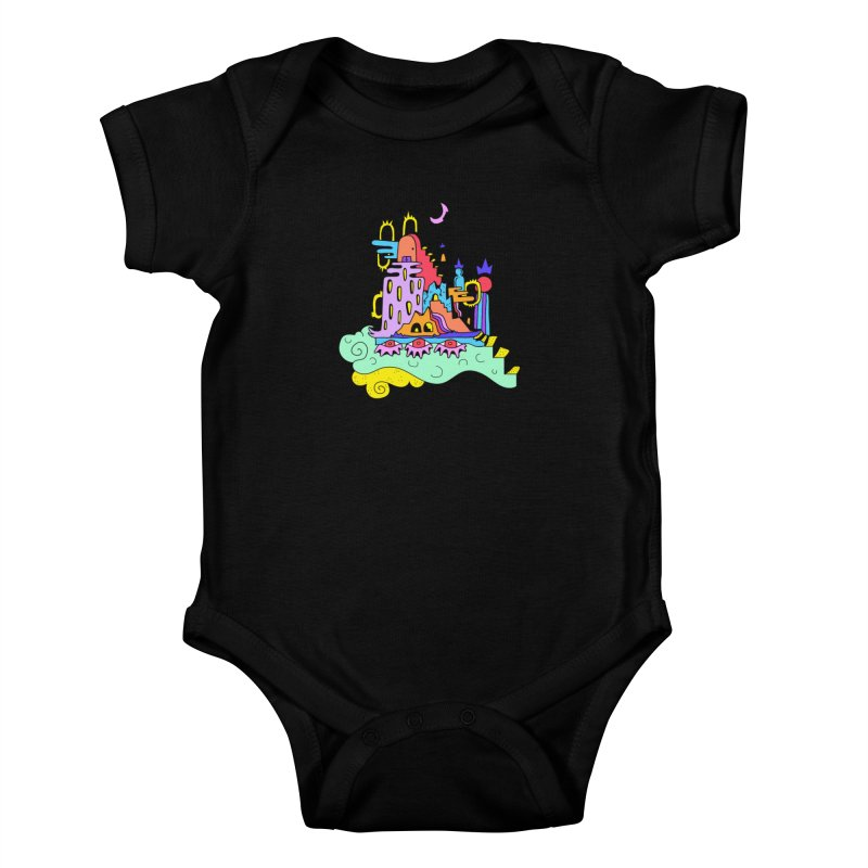 Village in the Sky Kids Baby Bodysuit by Shelby Works