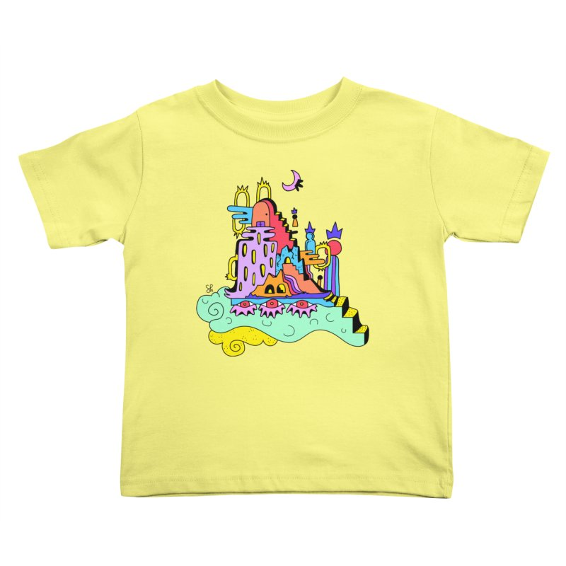 Village in the Sky Kids Toddler T-Shirt by Shelby Works