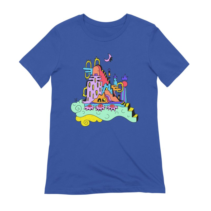 Village in the Sky Women's T-Shirt by Shelby Works