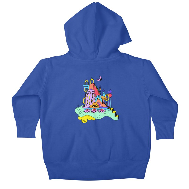 Village in the Sky Kids Baby Zip-Up Hoody by Shelby Works