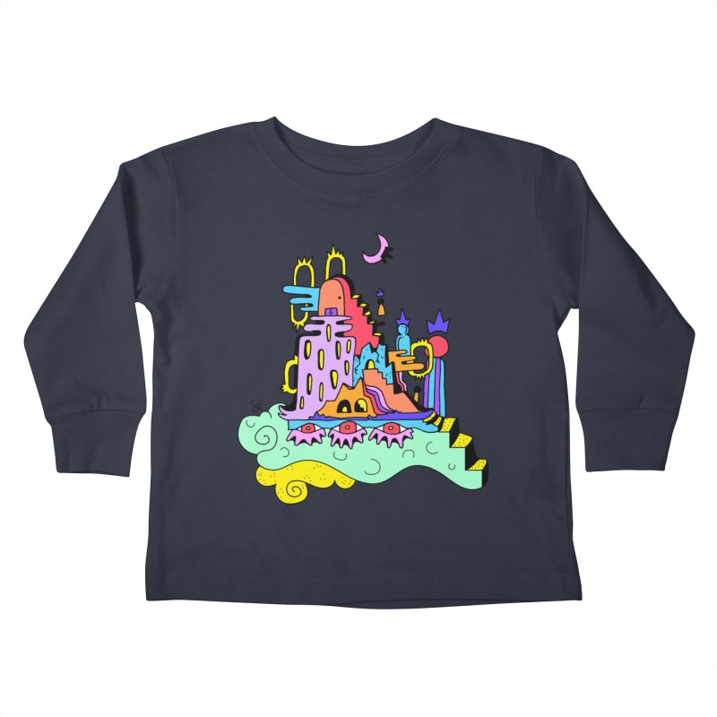 Village in the Sky Kids Toddler Longsleeve T-Shirt by Shelby Works