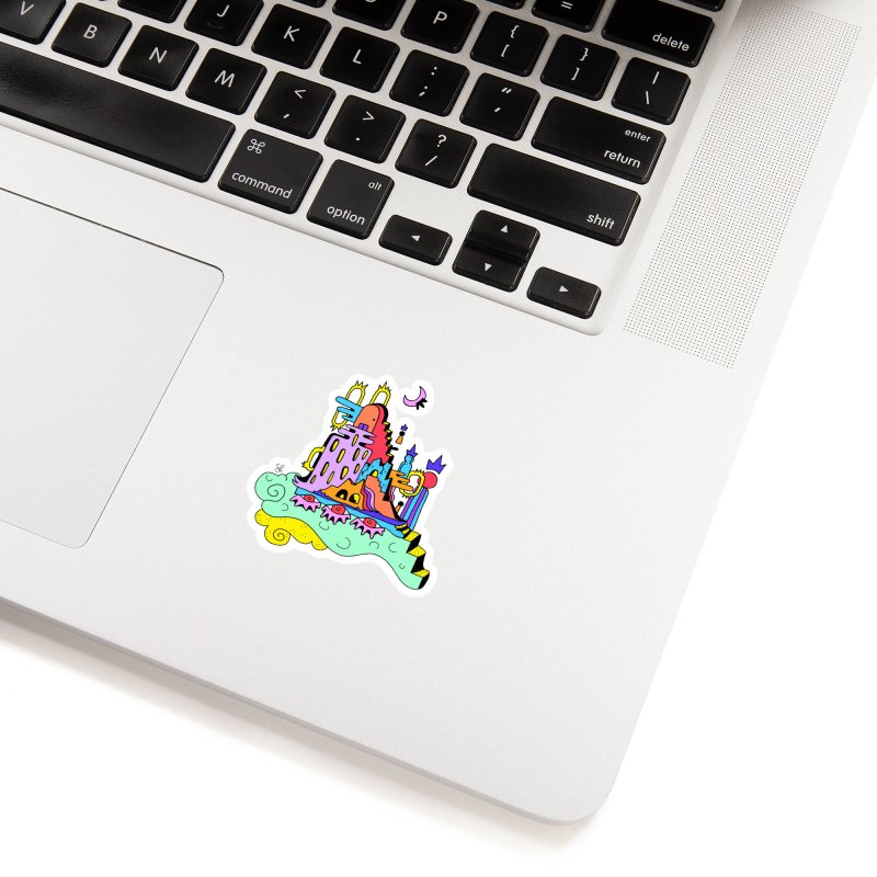 Village in the Sky Accessories Sticker by Shelby Works