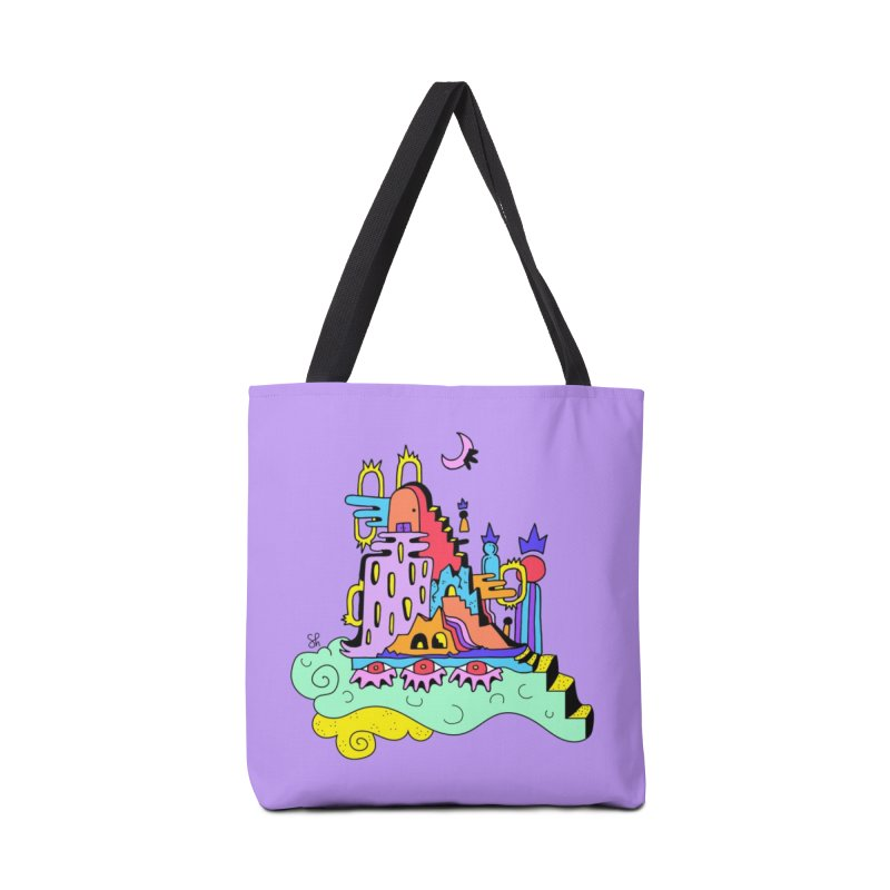 Village in the Sky Accessories Tote Bag Bag by Shelby Works