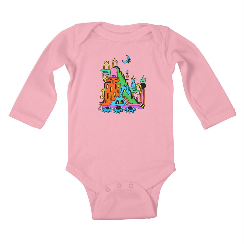 Lost Royals Kids Baby Longsleeve Bodysuit by Shelby Works