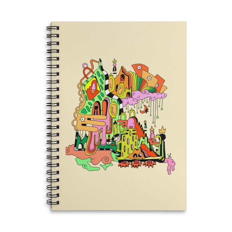 Jungle Gym Accessories Lined Spiral Notebook by Shelby Works