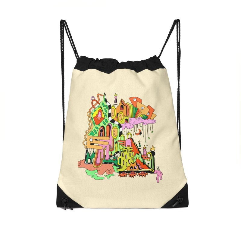Jungle Gym Accessories Drawstring Bag Bag by Shelby Works