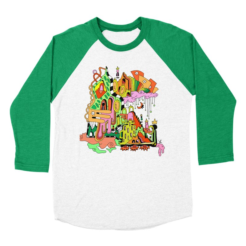 Jungle Gym Men's Baseball Triblend Longsleeve T-Shirt by Shelby Works