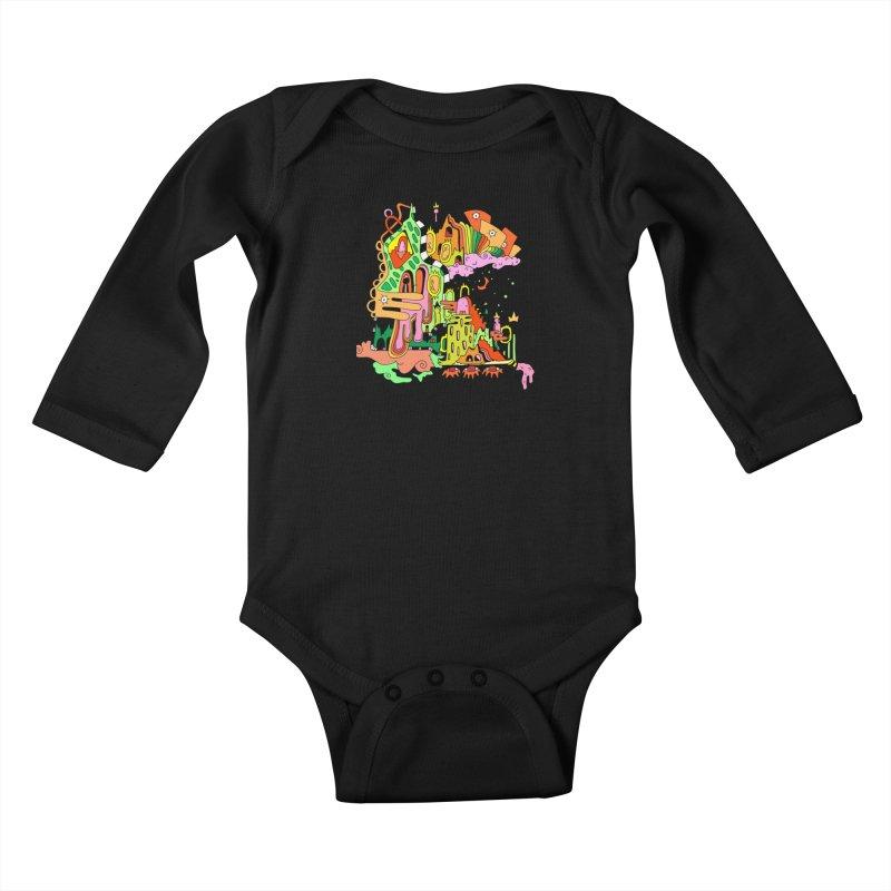 Jungle Gym Kids Baby Longsleeve Bodysuit by Shelby Works