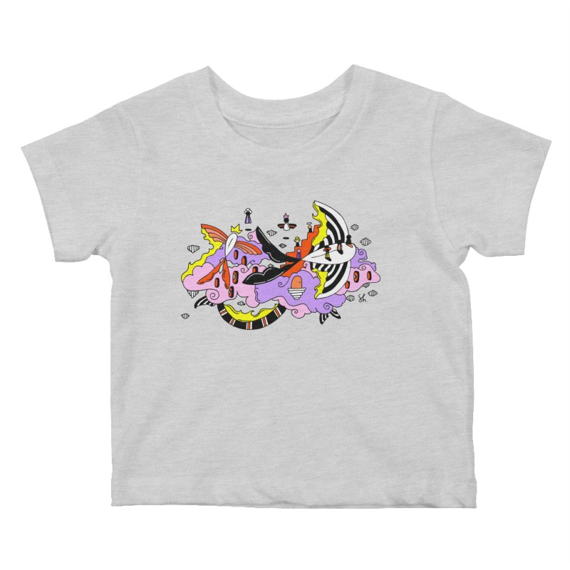 Fish Place Kids Baby T-Shirt by Shelby Works