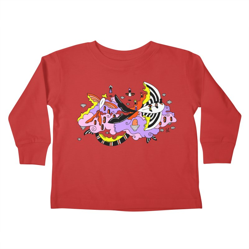 Fish Place Kids Toddler Longsleeve T-Shirt by Shelby Works
