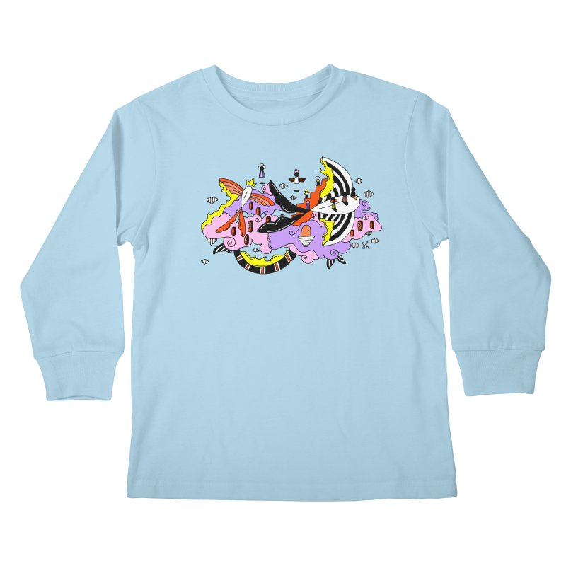 Fish Place Kids Longsleeve T-Shirt by Shelby Works
